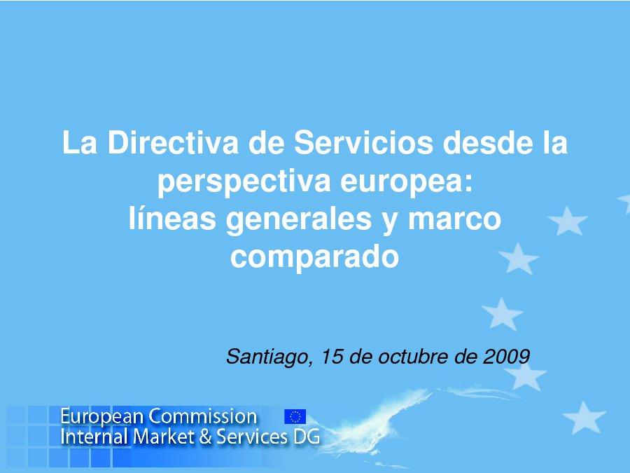 A directiva dende a perspectiva europea: liñas xerais e o marco comparado